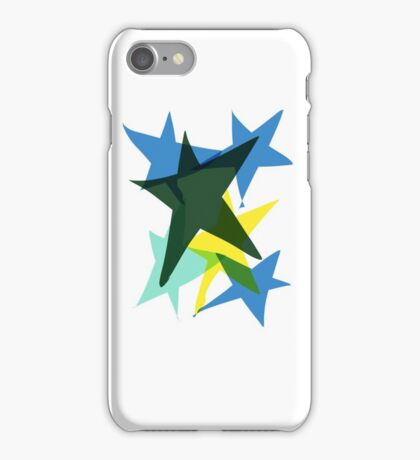 Stars blue yellow green  iPhone Case/Skin
