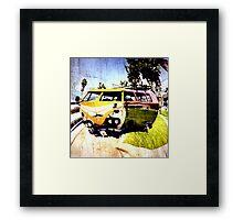 Campervan Surfin' USA Framed Print