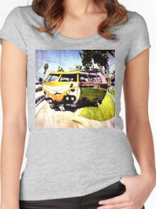 Campervan Surfin' USA Women's Fitted Scoop T-Shirt