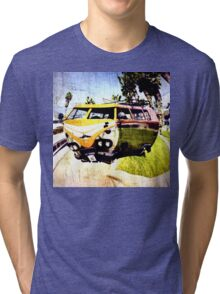 Campervan Surfin' USA Tri-blend T-Shirt