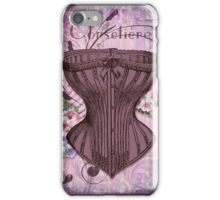 French Vintage lingerie fashion corset art iPhone Case/Skin