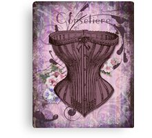 French Vintage lingerie fashion corset art Canvas Print