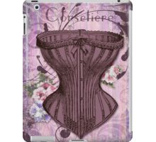 French Vintage lingerie fashion corset art iPad Case/Skin