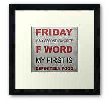 F word Framed Print