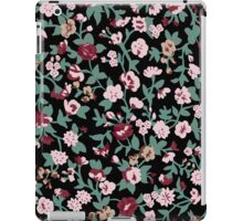 black flowers backgrounds  iPad Case/Skin