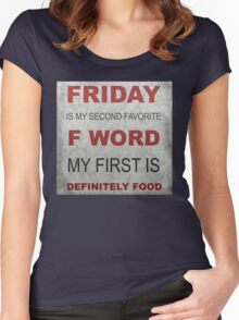 F word Women's Fitted Scoop T-Shirt