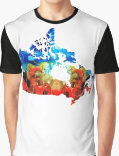 Canada - Canadian Map By Sharon Cummings Graphic T-Shirt