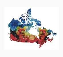 Canada - Canadian Map By Sharon Cummings One Piece - Short Sleeve