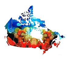 Canada - Canadian Map By Sharon Cummings Photographic Print