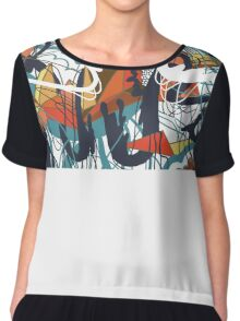 Through Wire and Crystal Chiffon Top