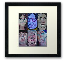 Six People Framed Print