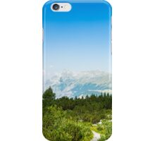 sunny day in the italian alps iPhone Case/Skin