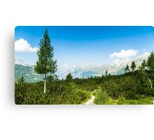 sunny day in the italian alps Canvas Print
