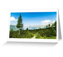 sunny day in the italian alps Greeting Card