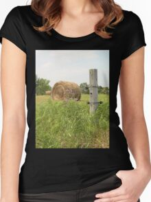 Farm Fence Post Women's Fitted Scoop T-Shirt
