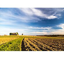 Abandoned farm in the countryside Photographic Print