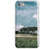 working in the field in the italian countryside iPhone Case/Skin