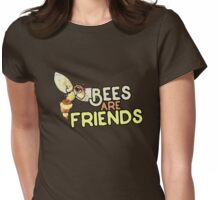 Bees are Friends Womens Fitted T-Shirt