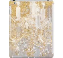 Gold and crystal chandelier Cottage style art iPad Case/Skin