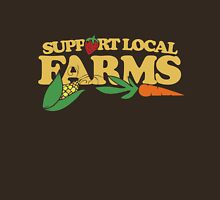 Support Local Farms Womens Fitted T-Shirt