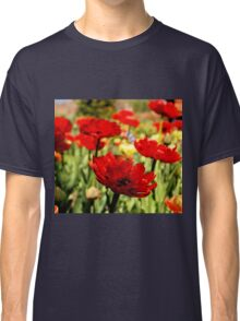 Red Flower Patch Classic T-Shirt
