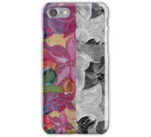 Contrast Floral Panels  iPhone Case/Skin