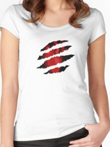 Scratched Heart Women's Fitted Scoop T-Shirt