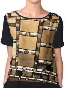 Mirrored Women's Chiffon Top