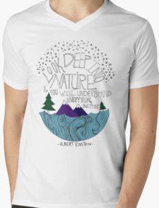 Einstein: Nature Mens V-Neck T-Shirt