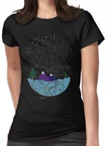 Einstein: Nature Womens Fitted T-Shirt