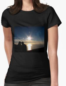 Sunset couple Womens Fitted T-Shirt