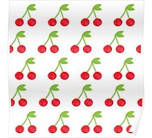 Cherry seamless background or pattern Poster