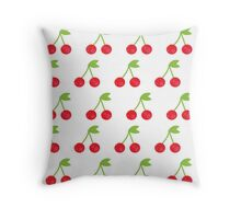 Cherry seamless background or pattern Throw Pillow