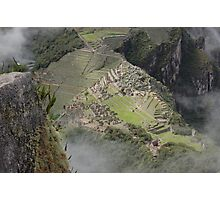 a view from Wayna Picchu Photographic Print