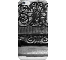 Ornate antique bench belle isle BW iPhone Case/Skin