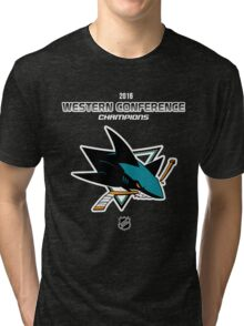 San Jose Sharks - 2015-2016 Western Conference Champions Tri-blend T-Shirt