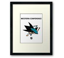 San Jose Sharks - 2015-2016 Western Conference Champions Framed Print