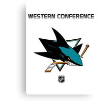 San Jose Sharks - 2015-2016 Western Conference Champions Canvas Print