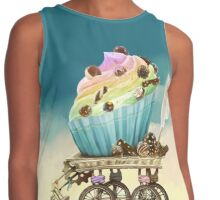 Eat me, Tasty Cupcake, Full version Contrast Tank