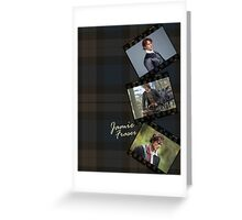 Outlander/Jamie on plaid Greeting Card