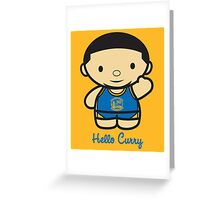 HELLO CURRY Greeting Card