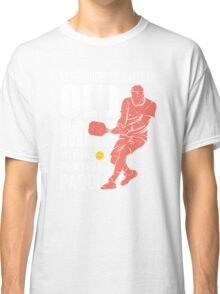 Never Underestimate an Old Man with a Pickleball Paddle Classic T-Shirt