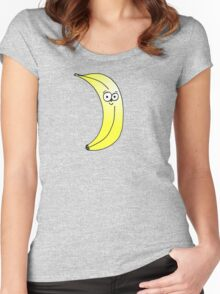 Cute Happy Banana Doodle Women's Fitted Scoop T-Shirt