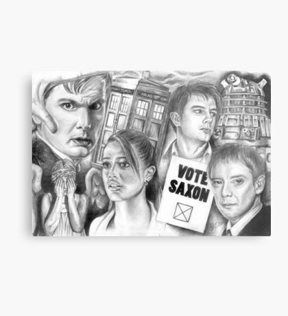Doctor Who the sound of drums Metal Print