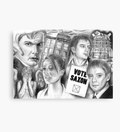 Doctor Who the sound of drums Canvas Print