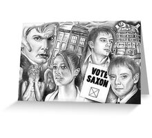 Doctor Who the sound of drums Greeting Card