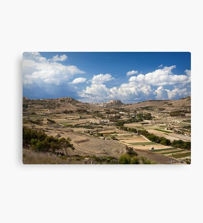 Gozo countryside in colour Canvas Print
