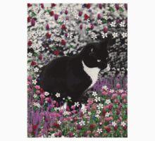 Freckles in Flowers II - Tuxedo Cat One Piece - Short Sleeve