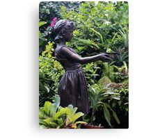Statue Belle Isle Conservatory 2 Canvas Print
