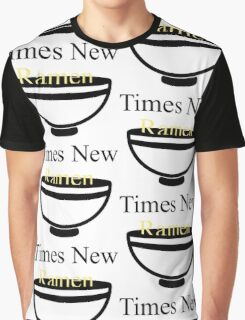 Times New Ramen Graphic T-Shirt